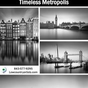 Timeless Metropolis, Ivo Kerssemakers April Show in the Lowcountry Artists Gallery